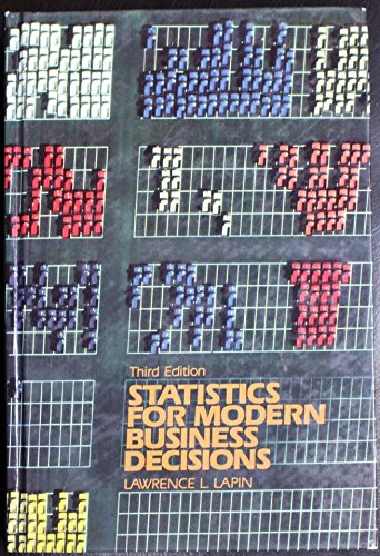 9780155837430: Statistics for Modern Business Decisions