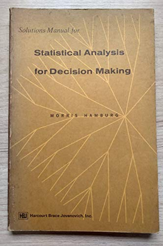 9780155837621: Statistical Analysis for Decision Making