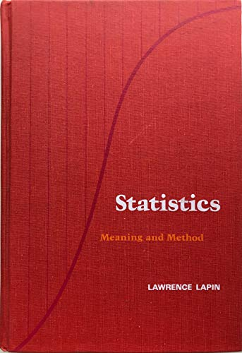 9780155837720: Statistics: Meaning and Method