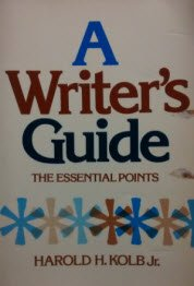 9780155976801: A Writer's Guide: The Essential Points