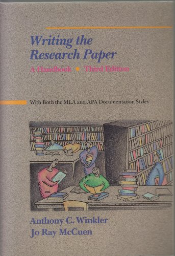 9780155982925: Winkler/Mccuen Writing the Research Paper:Hndbk 3e