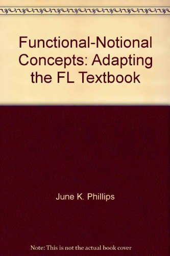 9780155990784: Functional-Notional Concepts: Adapting the FL Textbook (Language in Education. Theory & Practice)