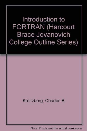 9780156000369: Introduction to FORTRAN (Harcourt Brace Jovanovich College Outline Series)
