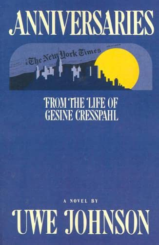 9780156011662: Anniversaries: From the Life of Gesine Cresspahl
