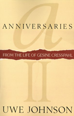 9780156011723: Anniversaries: From the Life of Gesine Cresspahl