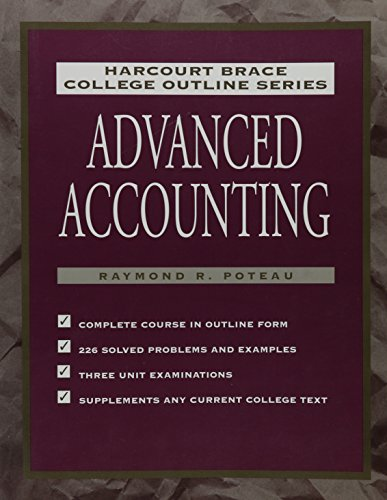 9780156015103: College Outline: Advanced Accounting (Harcourt Brace college outline series)