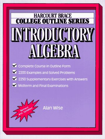 9780156015240: College Outline for Introductory Algebra (Books for Professionals)