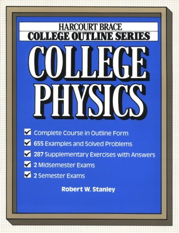 9780156016629: College Outline for College Physics (Harcourt Brace Jovanovich College Outline Series)