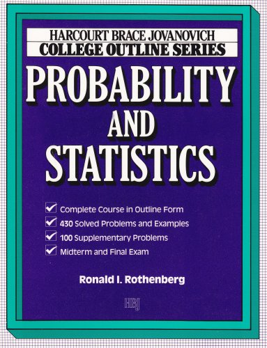 9780156016766: College Outline for Probability and Statistics (HARCOURT BRACE JOVANOVICH COLLEGE OUTLINE SERIES)