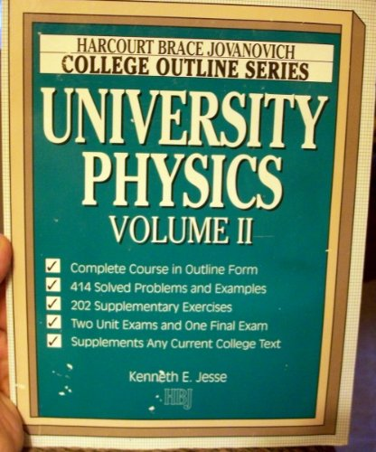 9780156016858: University Physics (Harcourt Brace Jovanovich College Outline Series)