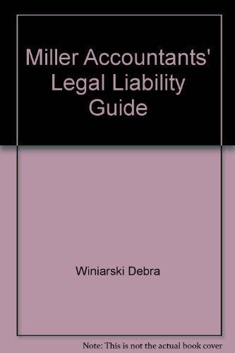 9780156025089: Miller Accountants' Legal Liability Guide