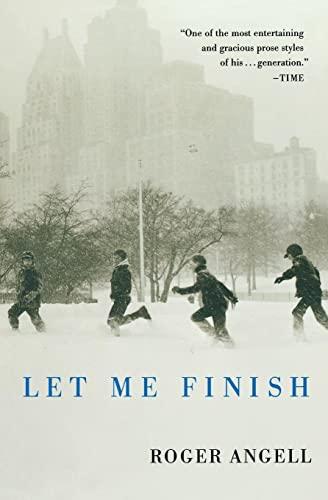 9780156032186: Let Me Finish
