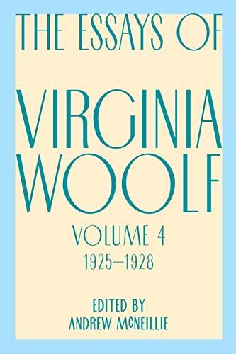 9780156035224: Essays of Virginia Woolf, Vol. 4, 1925-1928