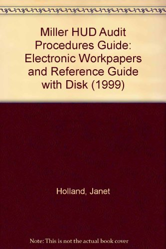 9780156062862: Miller HUD Audit Procedures Guide: Electronic Workpapers and Reference Guide with Disk (1999)