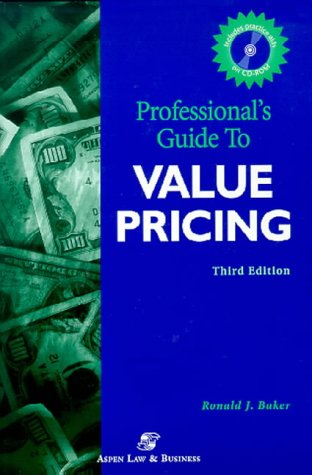 9780156072243: Professionals' Guide to Value Pricing 2001 (Professional's Guide to Value Pricing W/CD)