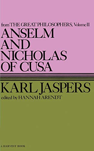 9780156076005: Great Philosophers: Anselm and Nicholas of Cusa v.2 (Harvest Book, Hb 289)