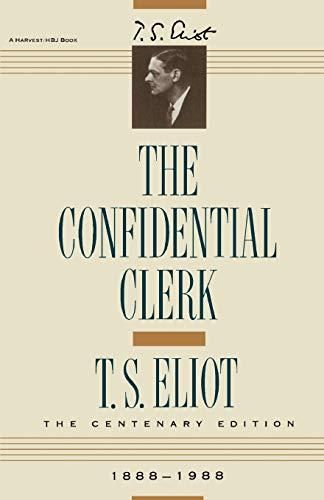 Confidential Clerk: T. S. Eliot