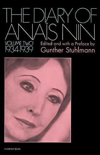 9780156260268: The Diary of Anais Nin 1934-1939: 2
