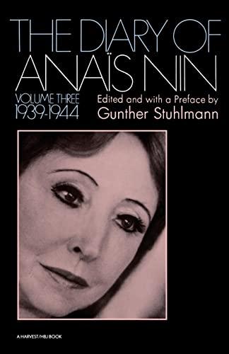 9780156260275: The Diary of Anais Nin, Vol. 3: 1939-1944