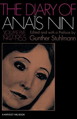 9780156260305: The Diary of Anais Nin, Vol. 5: 1947-1955