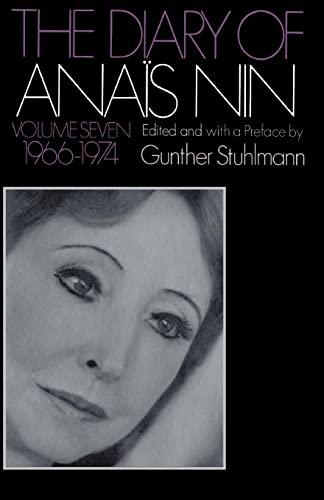 9780156260350: The Diary of Anais Nin 1966-1974