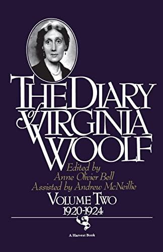 9780156260374: The Diary of Virginia Woolf, Vol. 2: 1920-1924