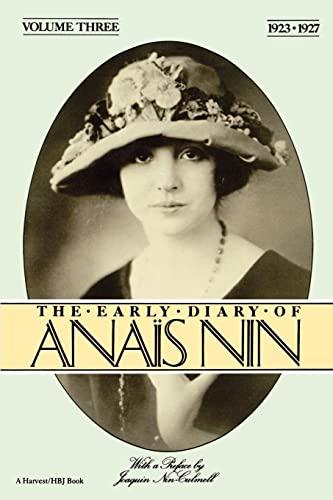 9780156272506: The Early Diary of Anais Nin: 1923-1927: Vol 3