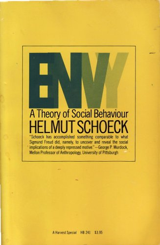 9780156287982: Envy: A Theory of Social Behaviour (Harvest Special)