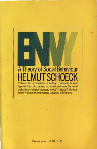 9780156287982: Envy: A Theory of Social Behaviour (Harvest Special)