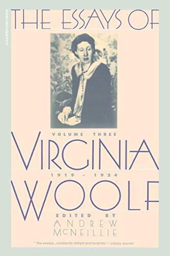 9780156290562: The Essays of Virginia Woolf, Vol. 3: 1919-1924