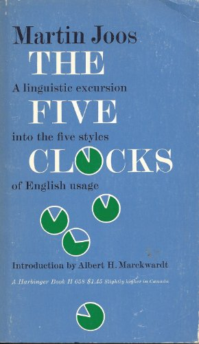 9780156313803: The Five Clocks