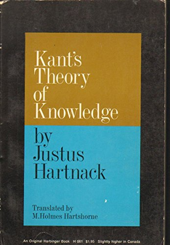 9780156466998: Kant's Theory of Knowledge Critique of Pure Reason