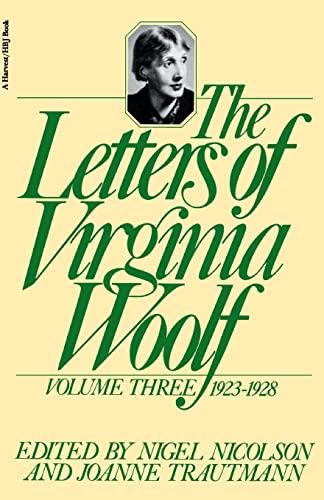 9780156508834: The Letters of Virginia Woolf, Volume III, 1923-1928