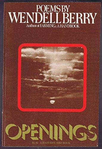 9780156700122: Openings: Poems (Harvest/Hbj Book)