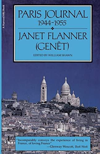 9780156709484: Paris Journal, 1944-1955
