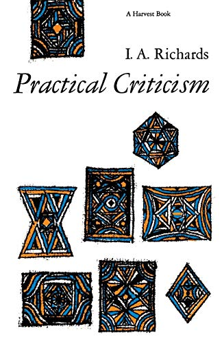 9780156736268: Practical Criticism: A Study of Literary Judgment