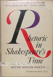9780156770941: Rhetoric in Shakespeare's time: Literary theory of Renaissance Europe (A Harbinger book)
