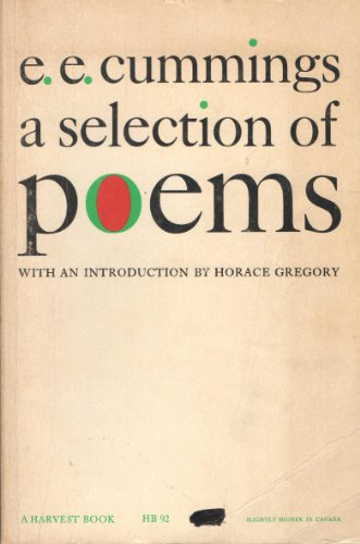 9780156806756: E.E.Cummings: A Selection of Poems