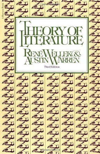 9780156890847: Theory of Literature