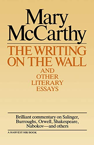 9780156983907: Writing on the Wall & Other Lit Essays