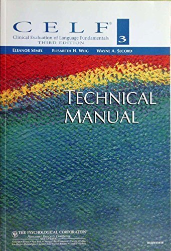 9780158035031: Clinical Evaluation of Language Fundamentals: Technical Manual