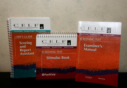 9780158037202: Clinical Evaluation of Language Fundamentals (CELF-4) Complete Kit