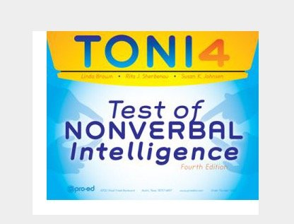 9780158177014: TONI-IV Test of Nonverbal Intelligence IQ Test Latest Edition-New, Never Opened