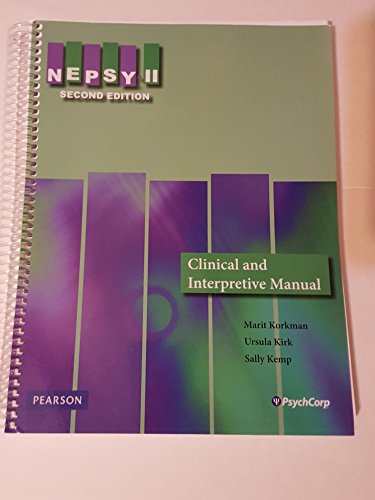 9780158234342: Nepsy II, Second Edition (Clinical Interpretive Manual)