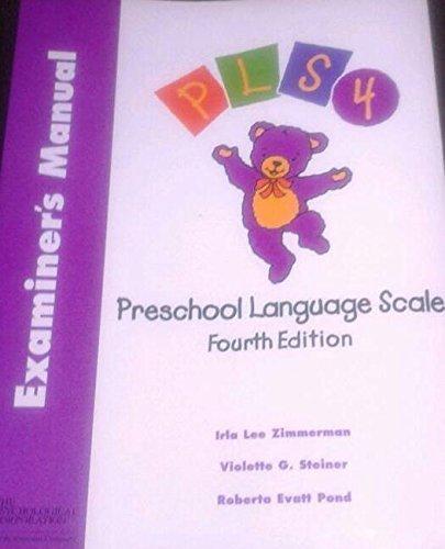 9780158659411: Introducing Preschool Language Scale: Examiner's Manual, English