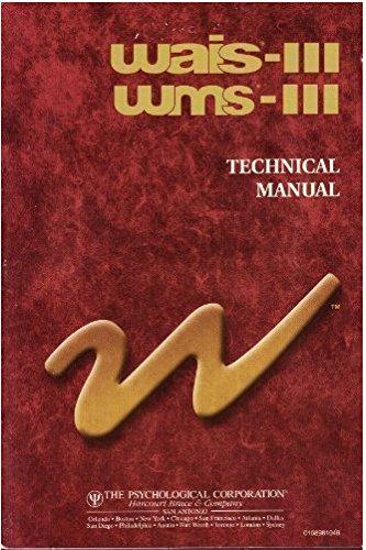 9780158981444: Wais-111 Wms-111 Technical Manual