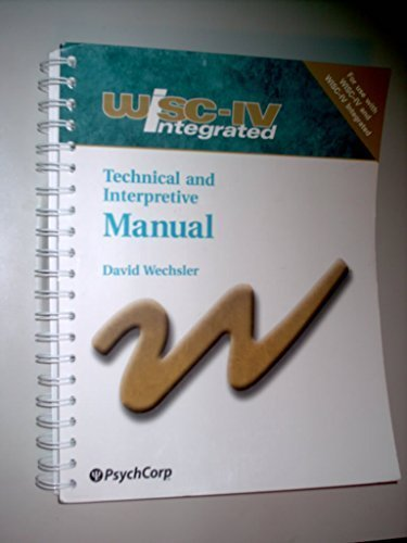 9780158982847: WISC-IV Integrated: Technical & Interpretive Manual