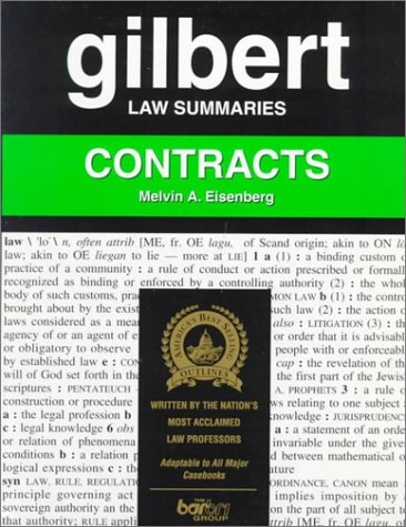 9780159000144: Gilbert Law Summaries: Contracts
