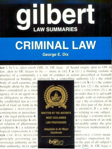 9780159002179: Gilbert Law Summaries: Criminal Law