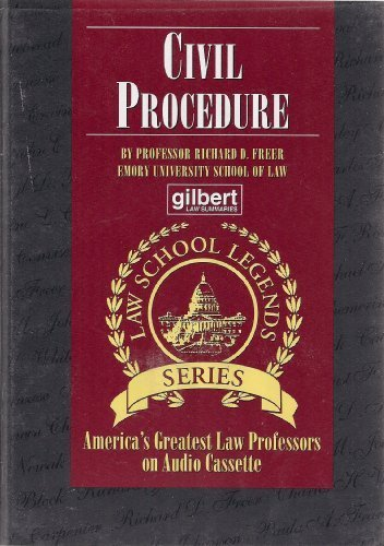 9780159003220: Civil Procedure (Law School Legends Series)